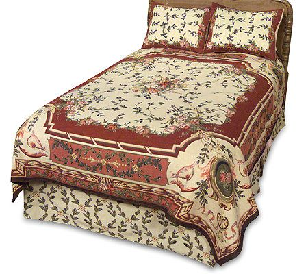 Attractive Amadeus Amboise Woven Tapestry Coverlet And Sham(s) Bedding Set U2014 QVC.com