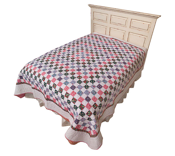 Country Living Picnic Treats All Cotton Reversible F/Q Size Quilt ... : country living quilt - Adamdwight.com