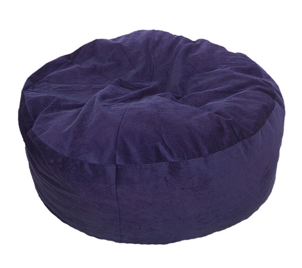 Convertible Beanbag Style Twin Sleeper Chair Bed W Corduroy Cover QVC