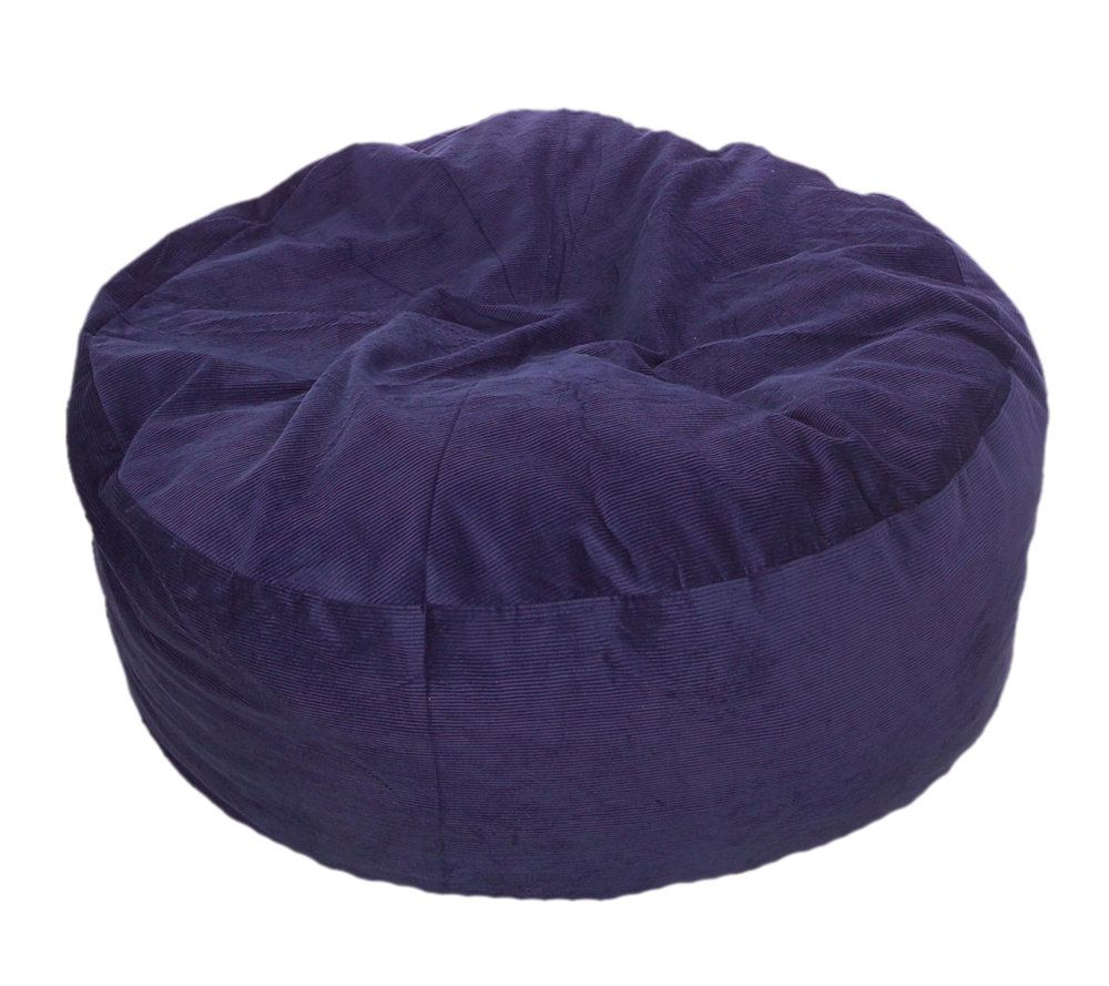Convertible Beanbag Style Queen Chair/Bed W/ Corduroy Cover U2014 QVC.com