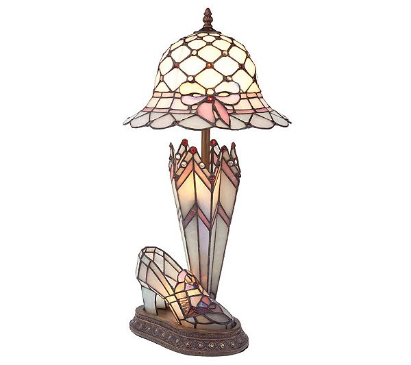 Handcrafted tiffany style hat shoe umbrella accent lamp page 1 qvc com