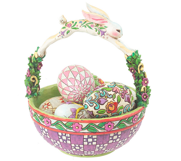 Jim shore heartwood creek easter basket with eggs figurine qvc negle Choice Image