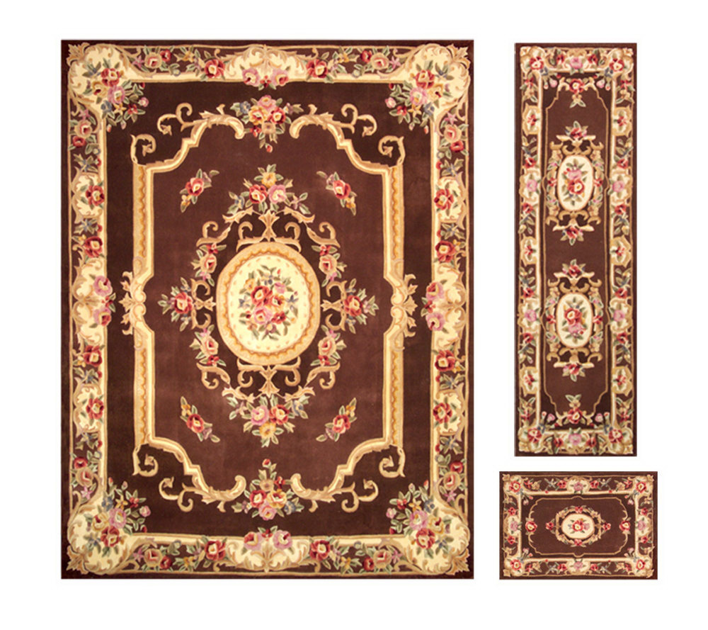 "royal palace alexandria wool 7'6""x 9'6"" rug with runner and accent"
