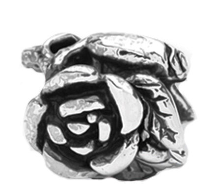 Prerogatives Sterling Rose Floral Bead