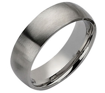 Forza Men's 7mm Steel Brushed Ring - J109500