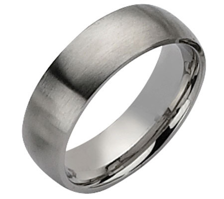 Forza Men's 7mm Steel Brushed Ring
