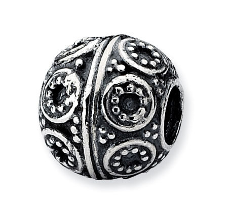 Prerogatives Sterling Studded Circle Artisan Bead