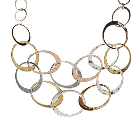 RLM Studio Sterling, Brass and Bronze Niagara Falls Bib Necklace