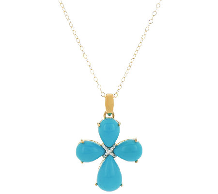 Sleeping beauty turquoise diamond accent cross pendant w chain sleeping beauty turquoise diamond accent cross pendant w chain aloadofball Image collections