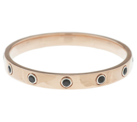 """As Is"" Bronzo Itlaia Gemstone Station Round Bangle"