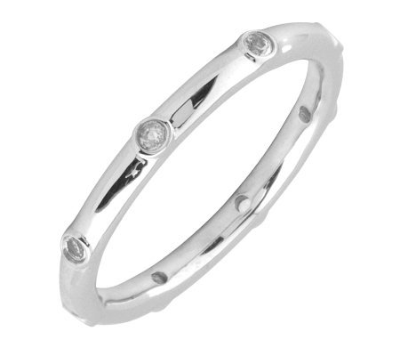 Simply Stacks Sterling White Topaz Multi-stoneStackable Ring
