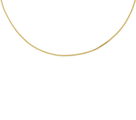 "Milor 22"" Polished Box Chain, 14K Gold 3.2g"