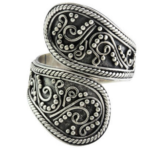 Novica Artisan Crafted Sterling Wrap Ring - J309800