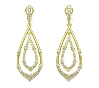 Judith Ripka Sterling Diamonique Teardrop Earrings, 14K Clad - J313700