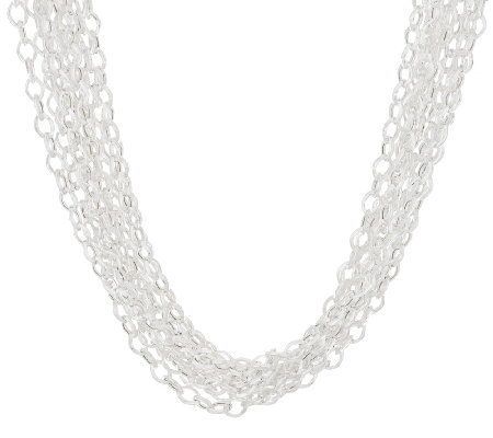 "Silver Style Multi-Strand 24"" Sterling Link Necklace, 57.0g"