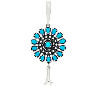 Sleeping Beauty Turquoise Sterling Silver Enhancer by American West - J322200