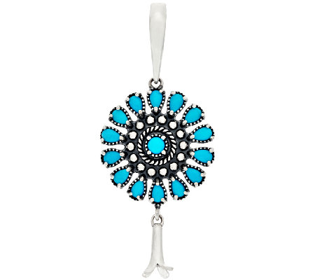 American West Sleeping Beauty Turquoise Sterling Silver Enhancer