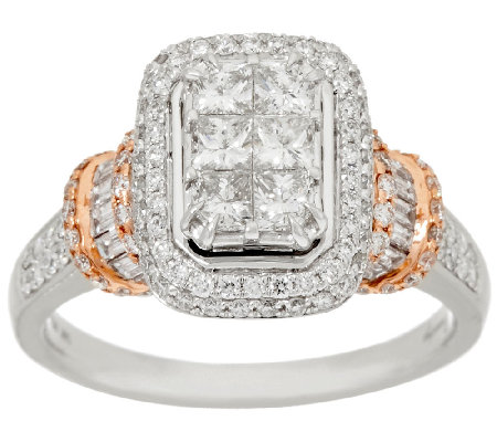 Michael Beaudry 1.50 cttw Diamond Cushion Ring, 14K Gold