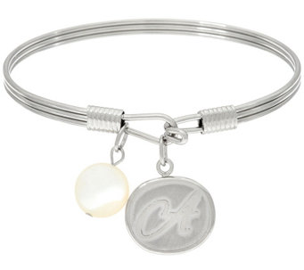 Stainless Steel Initial Charm Bangle, Gift Boxed - J326100