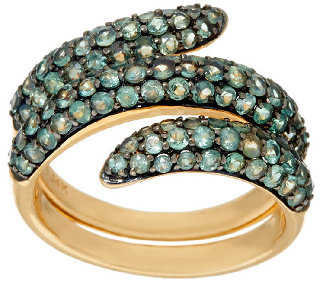 """As Is"" Alexandrite Pave Wrap Design Ring, 14K, 2.20ct tw"