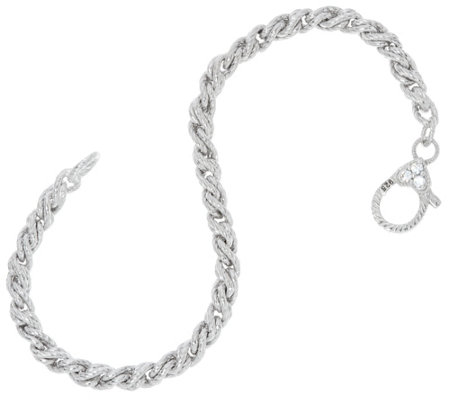 Judith Ripka Verona Sterling Twisted Cable Bracelet 13.0g