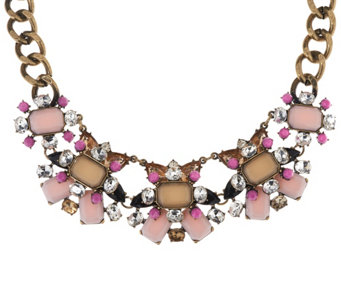 """As Is"" Joan Rivers Jeweled Couture 18"" Statement Necklace 3""ext. - J333400"