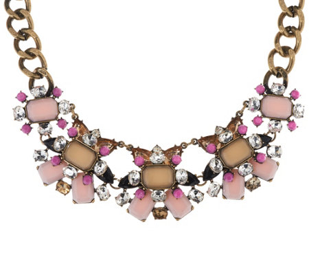 """As Is"" Joan Rivers Jeweled Couture 18"" Statement Necklace 3""ext."