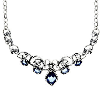 Carolyn Pollack Sterling Quartz 8.70cttw Gala Statement Necklace - J333800