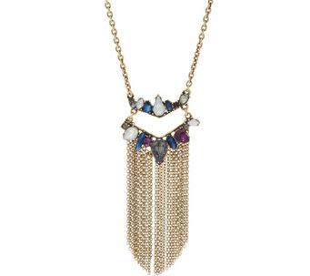 LOGO Links by Lori Goldstein Chevron Fringe Necklace - J334300