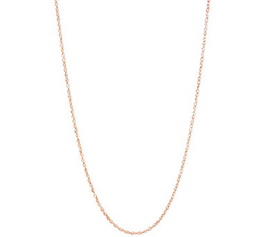 "Vicenza Gold Twisted Singapore 28"" Adjustable Necklace, 1.5g - J334600"