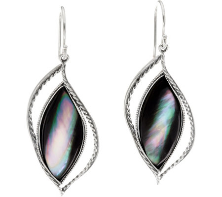 Or Paz Sterling Silver Mother of Pearl Dangle Earrings