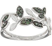 Pave' Colored Diamond Vine Ring, Sterling, 1/5 cttw, by Affinity - J348800