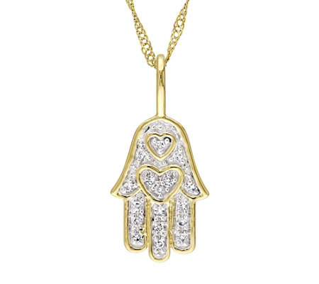 Diamond Accent Hamsa Pendant, 14K, by Affinity