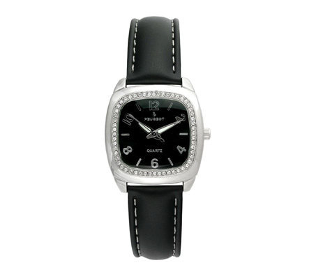 Peugeot Ladies Square Cushion with Crystal Bezel