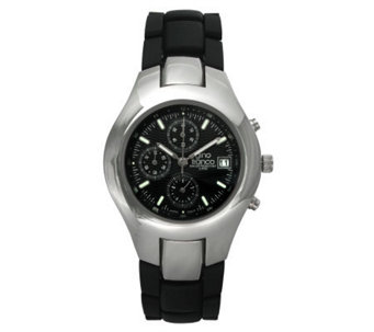 Gino Franco Men's Round Chronograph Black Bracelet Watch - J105701