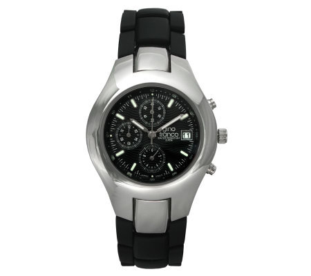 Gino Franco Men's Round Chronograph Black Bracelet Watch