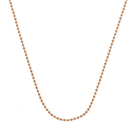 "Judith Ripka Sterling & 14K Clad 18"" 2.0mm Shot Bead Chain Necklace"