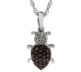 Diamond Critter Pendant Sterling, 1/7 cttw by Affinity - J285001