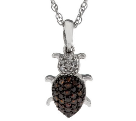 Diamond Critter Pendant Sterling, 1/7 cttw by Affinity
