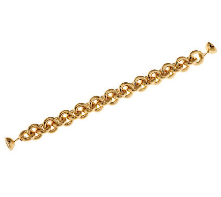 """As Is"" Oro Nuovo Average Rolo Link Bracelet with Magnet, 14K"