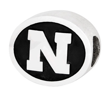 Sterling Silver University of Nebraska Bead