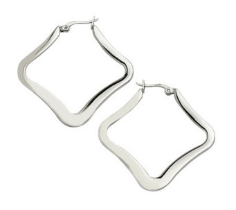 Stainless Steel Diamond-Shaped Earrings - J302201