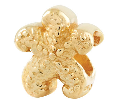 Prerogatives 14K Yellow Gold-Plated Sterling Starfish Bead