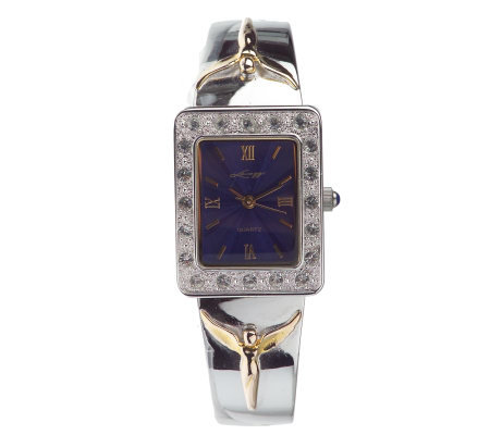 Petite Angel Two-tone Bangle Watch by Steven Lavaggi
