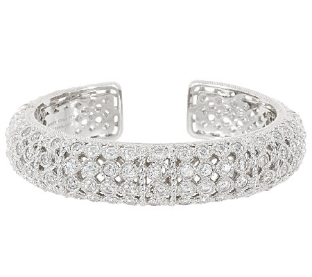 Judith Ripka Sterling 118 Facet Diamonique Cuff Bracelet