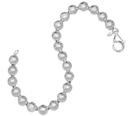UltraFine Silver Polished 8mm Bead Bracelet