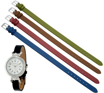 Isaac Mizrahi Live! Interchangeable Strap Watch - J323401