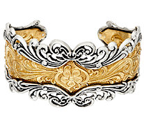 Sterling/Brass Bold Ornate Design Cuff by American West - J324001