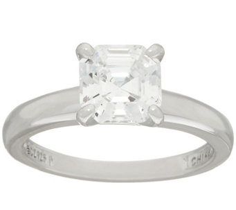 Diamonique 2.00 cttw Solitaire Ring, Platinum Clad - J326501