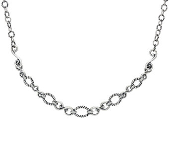 Carolyn Pollack Sterling Silver Signature Status Design Necklace - J328201
